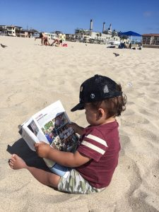 Hermosa Beach Reading by Nicholas Gustavson